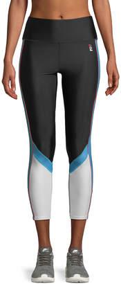 P.E Nation Backboard 7/8 High-Rise Paneled Cropped Leggings