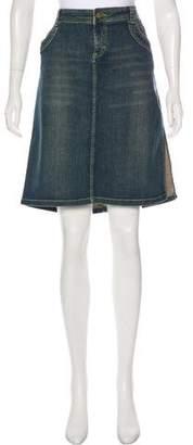 Dolce & Gabbana Distressed Denim Skirt