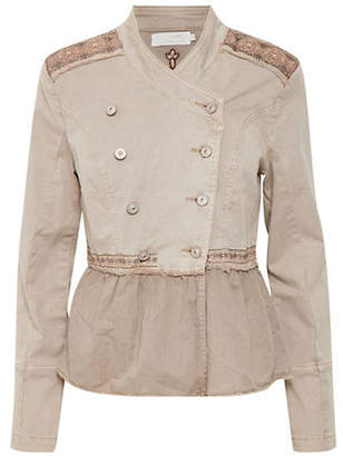 Cream Zarah Embroidered Jacket