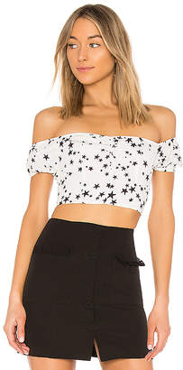 by the way. Lux Off The Shoulder Crop Top