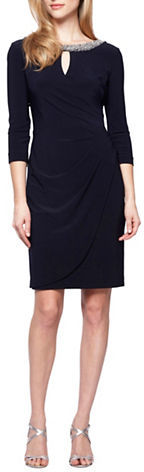 Alex EveningsAlex Evenings Plus Embellished Keyhole Dress