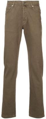 Kiton casual straight leg trousers