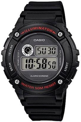 Casio Men's Digital Watch, Black Resin Strap