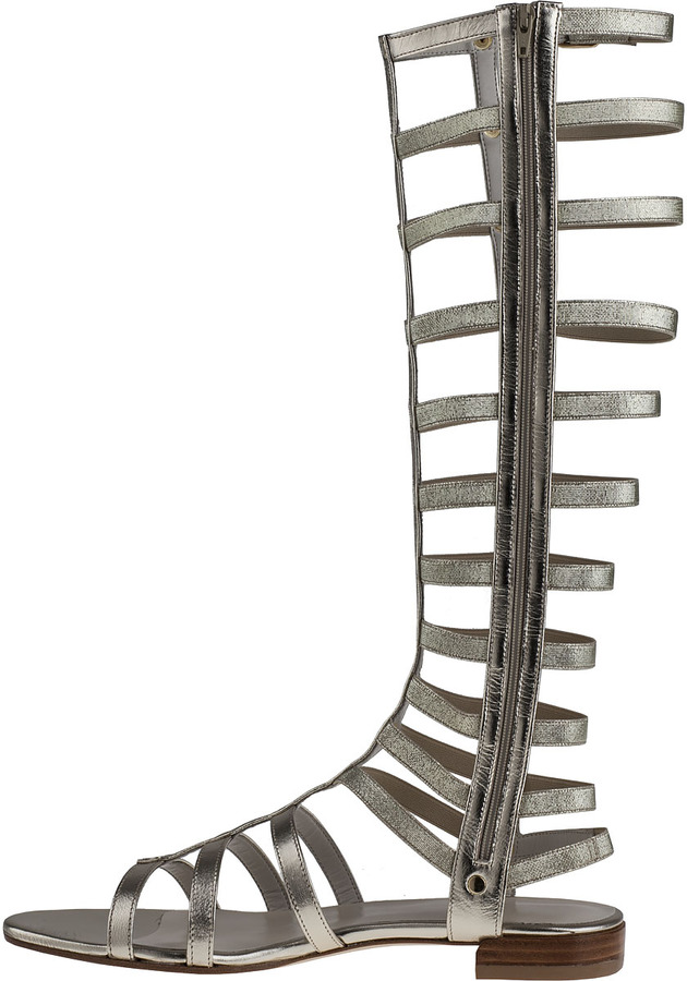 Stuart Weitzman Gladiator Sandal Black Leather