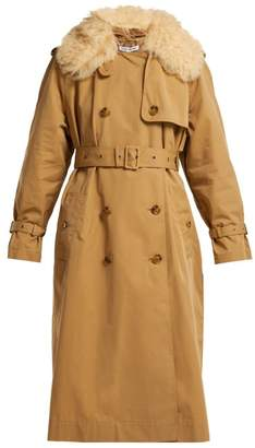 Elizabeth and James Stratford Shearling Trimmed Trench Coat - Womens - Camel
