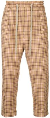 Monkey Time Checked Drawstring Trousers