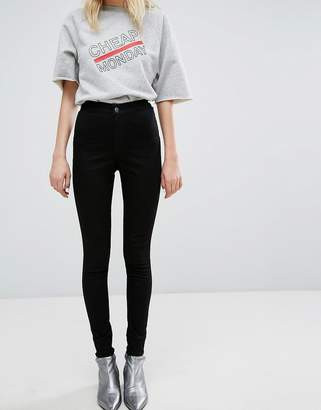 Cheap Monday High Waist Super Skinny Jean With No Pocket