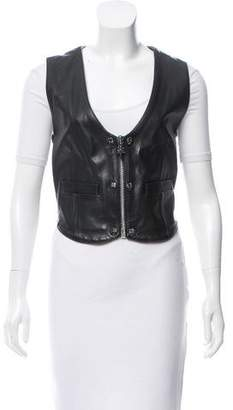 Chrome Hearts Embellished Leather Vest