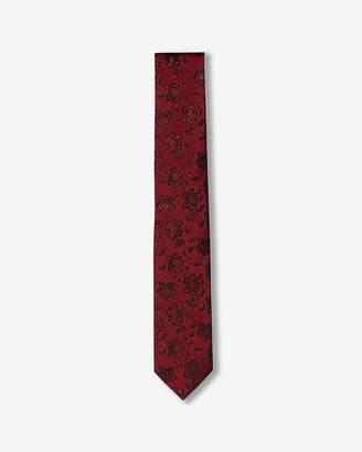 Express Skinny Floral Silk Tie
