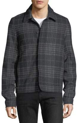 Vince Plaid Trucker Jacket