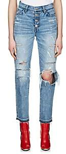 Amiri Women's Studded Straight Jeans - Blue