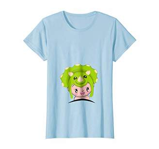 Womens Maternity Baby Halloween Cute Dinosaur Costume Shirt