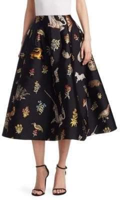 Oscar de la Renta Enchanted Forest A-Line Skirt