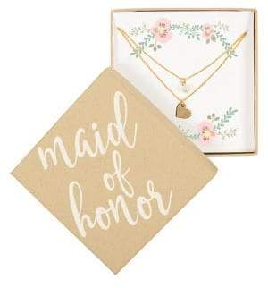 Cathy's Concepts Maid of Honor Double Chain Necklace