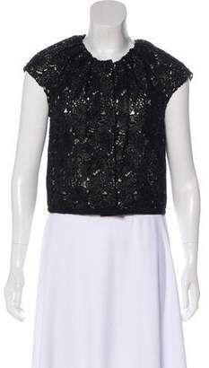 Giambattista Valli Lace Short Sleeve Top