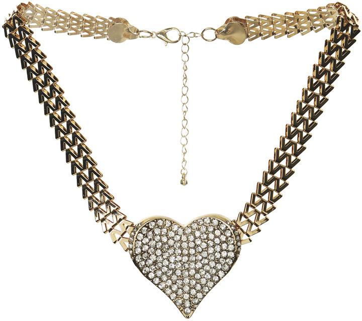 Arden B Chevron Chain Heart Necklace
