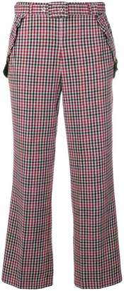 Twin-Set checked cropped trousers