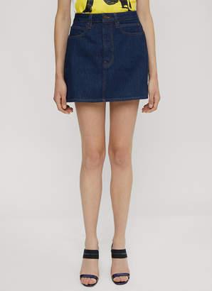 Calvin Klein Est 1978 Denim Mini Skirt in Blue