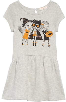 Truly Me Halloween Graphic Drop Waist Dress