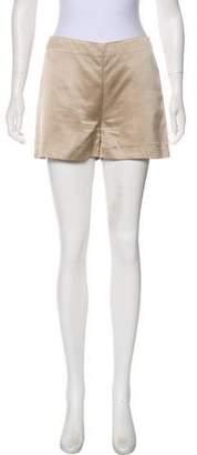 Stella McCartney Satin Mid-Rise Shorts