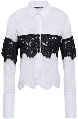 Marissa Webb Pique-paneled Corded Lace Shirt