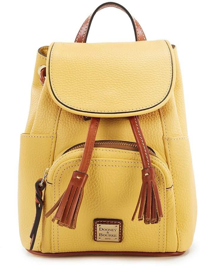 Dooney & Bourke Pebble Collection Mini Murphy Backpack - LEMON - STYLE