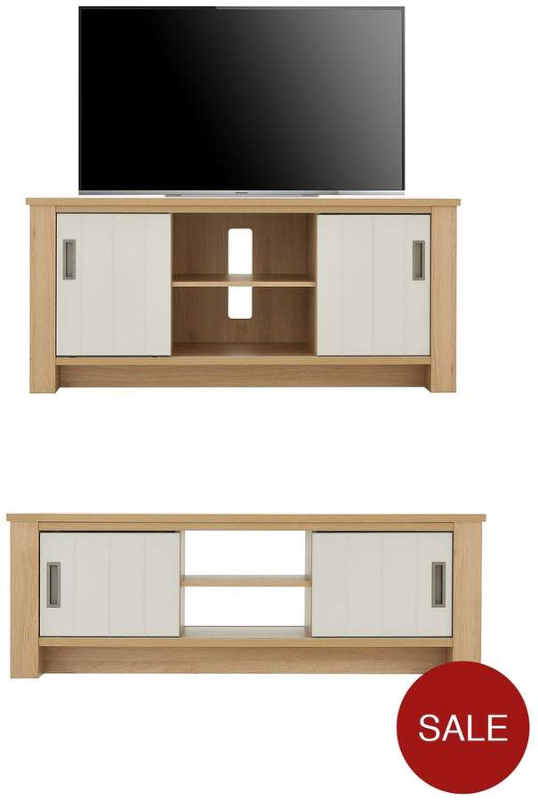 Gemini 2 Piece Ready Assembled Living Room Set - TV Unit And Coffee Table
