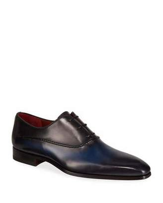 Magnanni Men's Bol Wind Seamed Leather Dress Shoes
