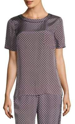 Peserico Printed Silk Top