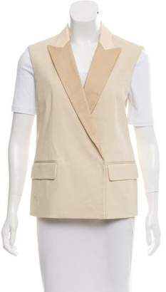 Reed Krakoff Leather-Trimmed Contrasted Vest w/ Tags