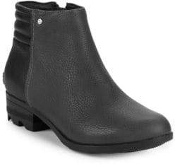 Sorel Danica Waterproof Leather Ankle Boots