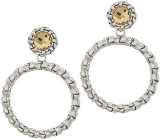 Tiffany & Co. Kay Studio Sterling Silver Purl Removable Hoop Earrings