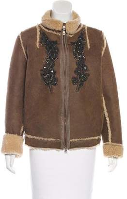 Antik Batik Embellished Leather Jacket