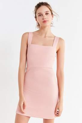Urban Outfitters Britt Textured Square-Neck Mini Dress