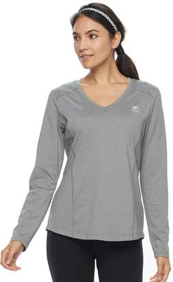 Fila Sport Women's SPORT Essential V-Neck Long Sleeve Tee