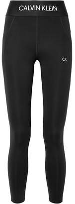 Calvin Klein Cropped Stretch Leggings - Black