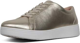 FitFlop Rally Metallic Leather Sneakers