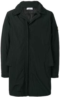Stone Island hooded touch-strap coat