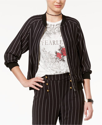 Disney Beauty and the Beast Juniors' Striped Bomber Jacket $59 thestylecure.com