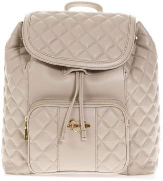 Love Moschino Dove Quilted Backpack In Faux Leather