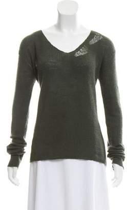 RtA Denim Distressed Cashmere Sweater