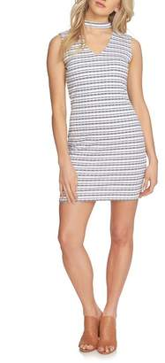 1 STATE 1.State Striped Choker Neck Bodycon Dress