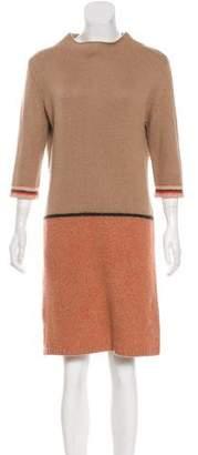 Max Mara Weekend Long Sleeve Mock Neck Dress