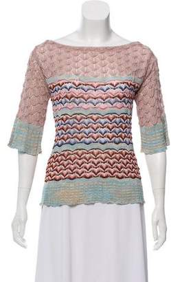 Missoni Short Sleeve Scoop Neck Top