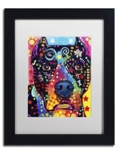 """Trademark Global Dean Russo 'Junior' Matted Framed Art - 11"""" x 14"""" x 0.5"""""""