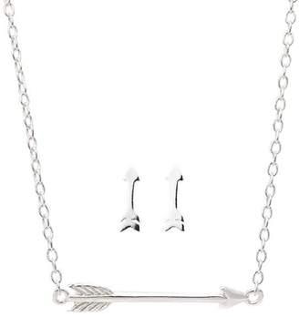 Earthy Chic Boutique Mini Arrow Necklace & Earring Set
