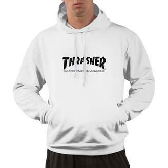 3.1 Phillip Lim YHPrint 3D Thrasher Skateboard Magazine Art Mens Hooded Pullover with Pocket Casual Hoodies Sweatshirt