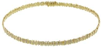 Suzanne Kalan White Diamond Pavé Choker Necklace - Yellow Gold