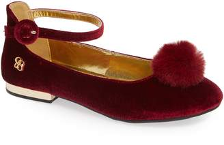 Jessica Simpson Ankle Strap Pom Flat