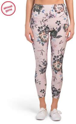 High Waist Floral Print Ankle Leggings
